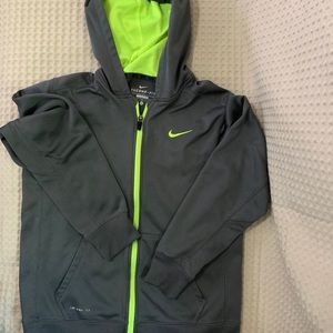Nike Therma-Fit Hoodie Gray/Neon yellow XL youth